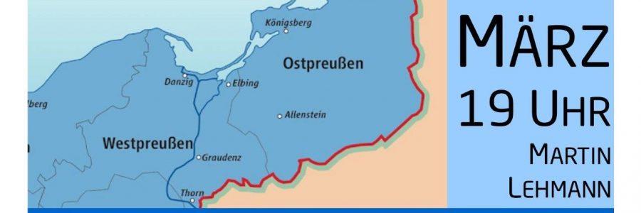 Ostpreußen – Westpreußen – ein Talk und Vortrag im Café